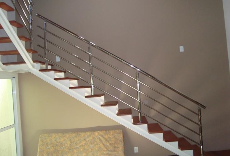 Valor de Corrimão de Escada de Inox Itu - Corrimão de Escada de Inox